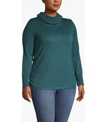 lane bryant women's side-ruched cowl-neck sweater 26/28 atlantic deep
