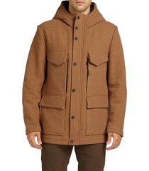antony morato timeless coat with hood camel 2068