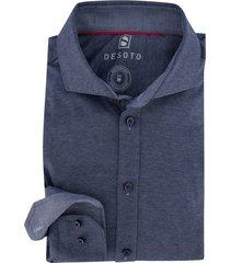 desoto overhemd piqué donkerblauw