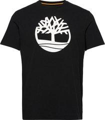 kbec river tree tee t-shirts short-sleeved svart timberland