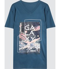 camiseta hombre galaxy color azul, talla l