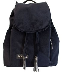 czarny welurowy plecak premium