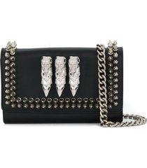 philipp plein stud-embellished clutch bag - black
