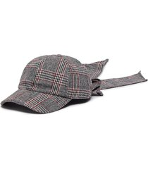 'lauren' check plaid bow embellished baseball cap