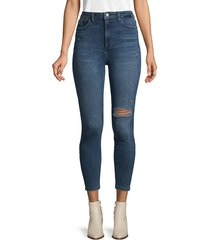 dl1961 premium denim women's chrissy high-rise skinny jeans - saxton - size 27 (4)