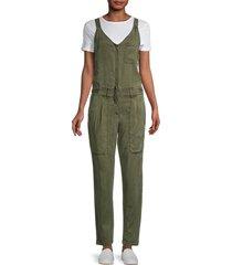 young fabulous & broke women's trixie denim jumpsuit - pine - size s