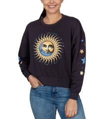 rebellious one juniors' celestial graphic-print sweatshirt