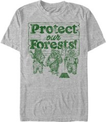 fifth sun men's star wars ewoks protect our forests camp short sleeve t-shirt