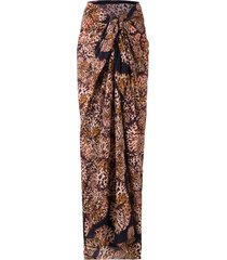isolda paquistão printed beach skirt - multicolour