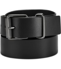 calvin klein jeans men's roller-buckle leather belt