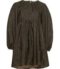 kelly, 1034 textured poly korte jurk groen stine goya