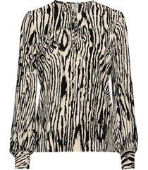 mandra blouse lange mouwen zwart baum und pferdgarten