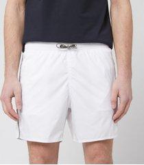 emporio armani men's logo tape boxer swim short - white - 52/l