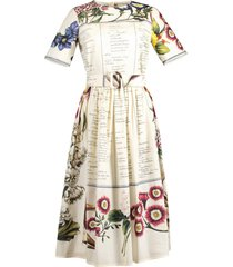 short sleeve printed cotton full bottom dress