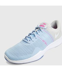 tenis training azul-gris-blanco nike trainer 2