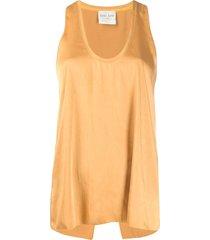 forte forte scoop-neck vest top - yellow