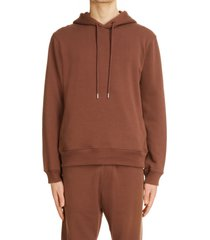 men's dries van noten hallom cotton hoodie, size x-large - brown
