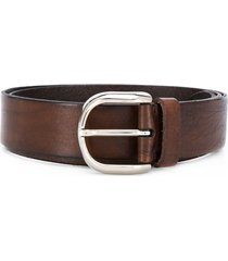 brunello cucinelli embroidered stitch belt - brown