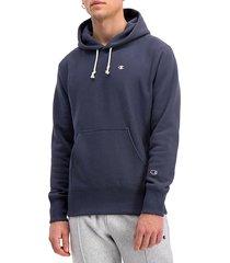 champion men's drawstring cotton-blend hoodie - sepia red - size m
