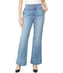 inc curvy wide-leg sailor trouser jeans, created for macy's