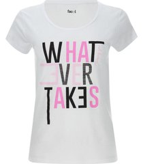 camiseta descanso what ever takes color blanco, talla m