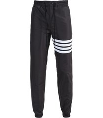 charcoal 4-bar track pants