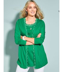 2-in-1-vest miamoda groen