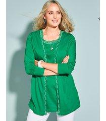 2-in-1-vest miamoda groen
