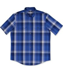 alfani men's classic-fit plaid shirt, created for macy's