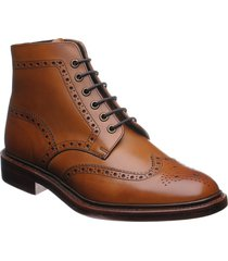 handmade mens brogue wingtip ankle high leather boots, mens dress leather boot