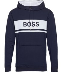 fashion sweatshirt h sweat-shirt tröja blå boss