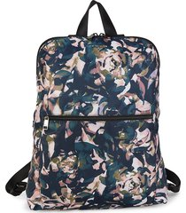 tumi women's just in case abstract-print backpack - rose floral