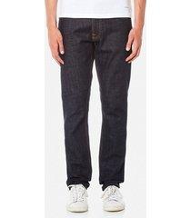 nudie jeans men's dude dan straight jeans - dry comfort dark - w38/l32 - blue