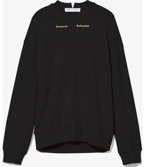proenza schouler white label ps ny sweatshirt 00200 black l
