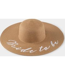 bride to be floppy hat - natural