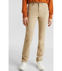 pantalón straight medium rise beige esprit