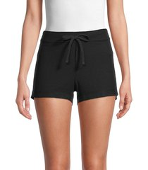 james perse women's cotton-blend shorts - curacao - size 3 (l)