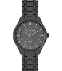 geoffrey beene grey dial genuine diamond dial slim bracelet watch