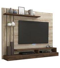 painel para tv até 50 pol permóbili móveis valencia rústico/café