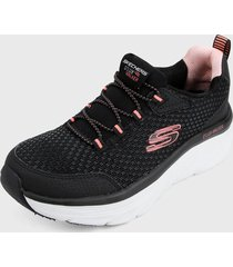 tenis training negro-rosa-blanco skechers relaxed fit