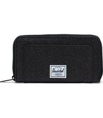 herschel supply co. thomas canvas zip wallet in black sparkle at nordstrom