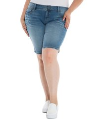 plus size women's slink jeans the bermuda shorts