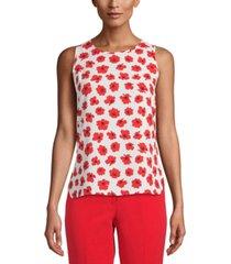 anne klein floral-print sleeveless top