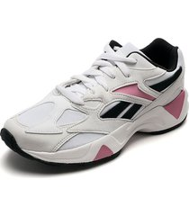 tenis running blanco-negro-rosa reebok aztrek 96