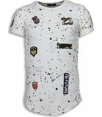 john h paint drops army shirt wit