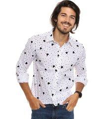 camisa blanca redskin corazón
