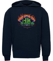 bulky hoodie sweat-shirt trui blauw han kjøbenhavn