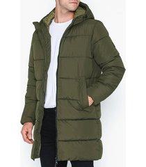 jack & jones jorknight long puffer jacket jackor mörk grön