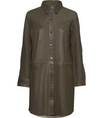 heavenly leather shirt korte jurk groen odd molly