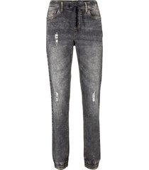 leans con cinta elastica senza chiusura (grigio) - john baner jeanswear